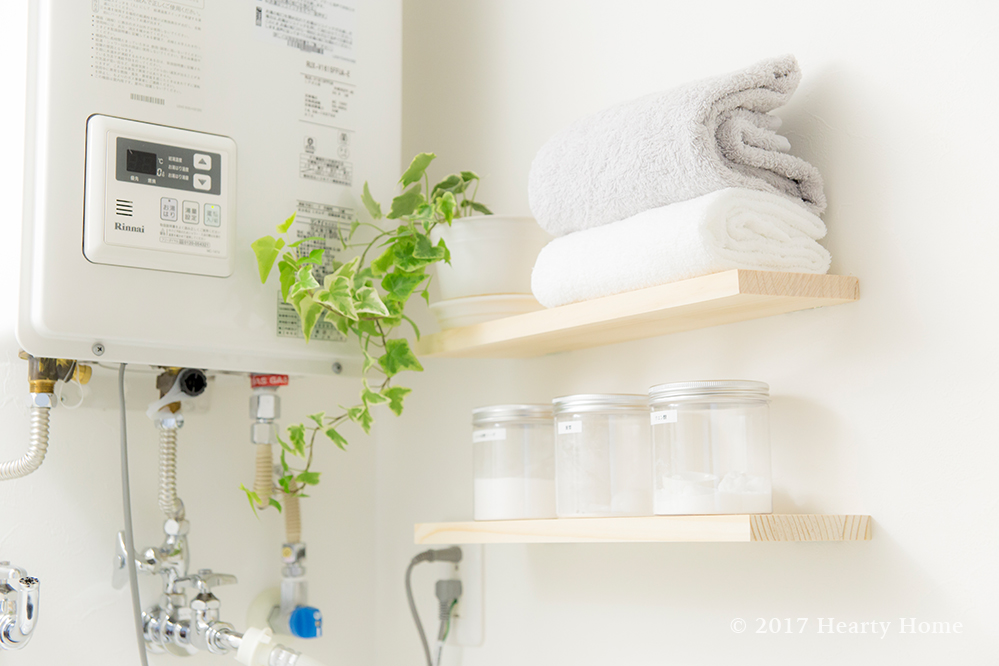 ウォールシェルフ パネルフック DIY 洗面所 棚