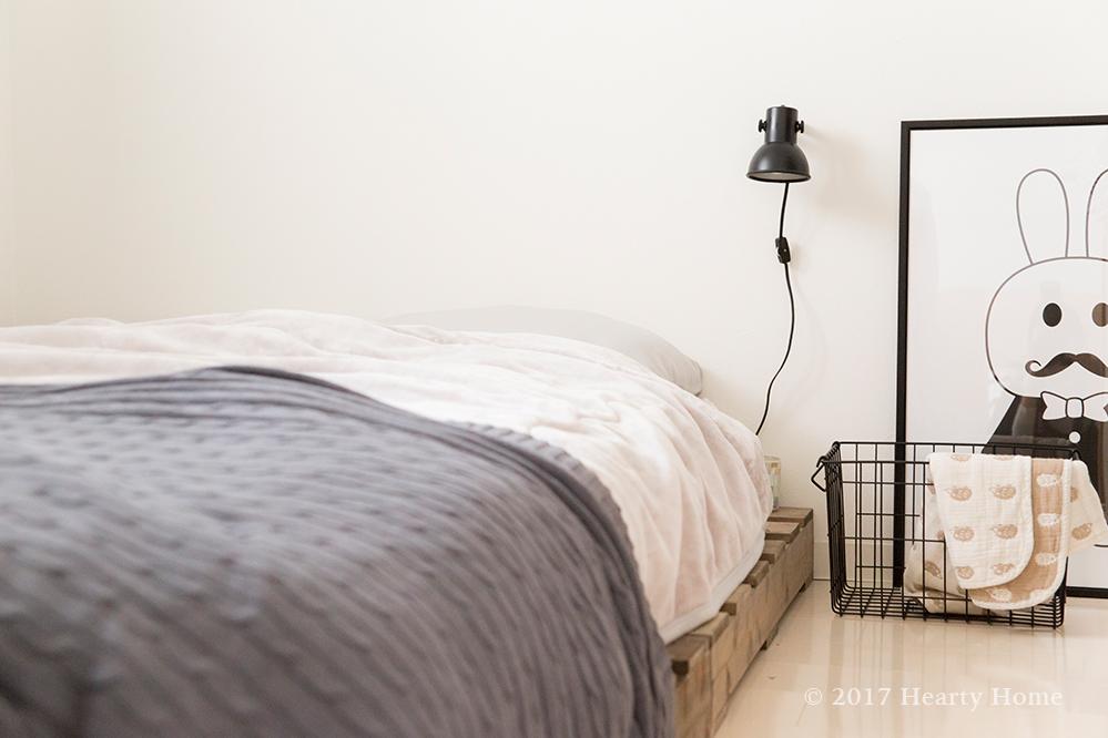 寝室 海外インテリア風 古いライト アンティーク