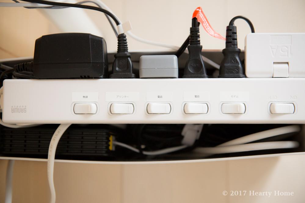 配線 コード 整理 収納 無印 電源タップ