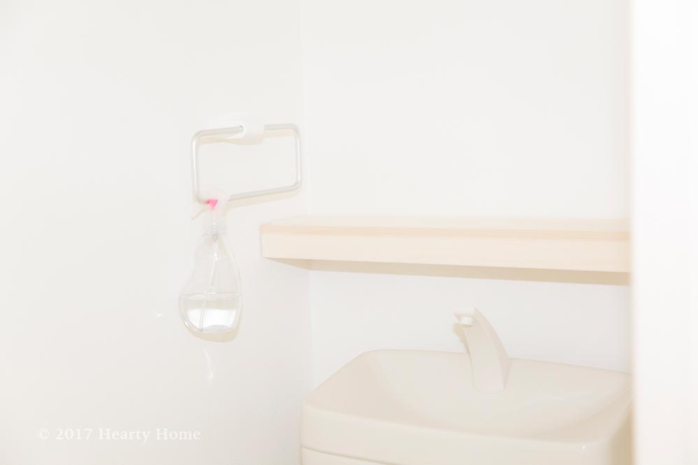 トイレ DIY ウォールシェルフ 突っ張り棒