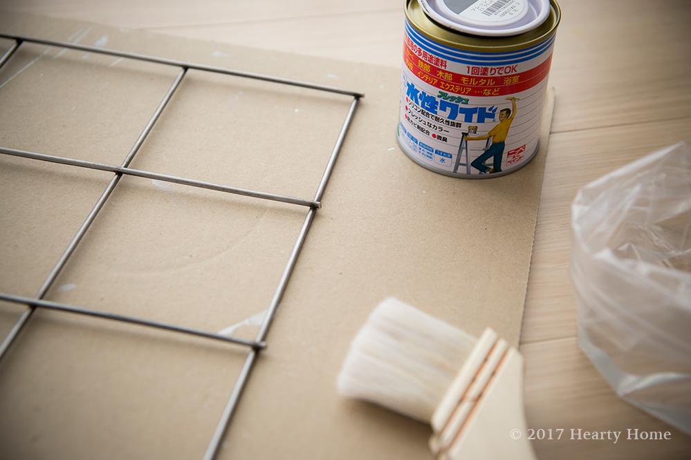 ワイヤーメッシュ 海外インテリア DIY ペンキ塗り