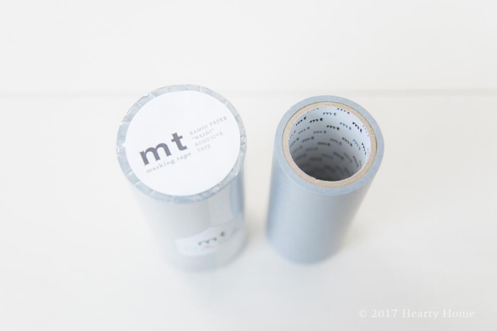 mt 幅広 マスキングテープ シルバー アレンジ 壁