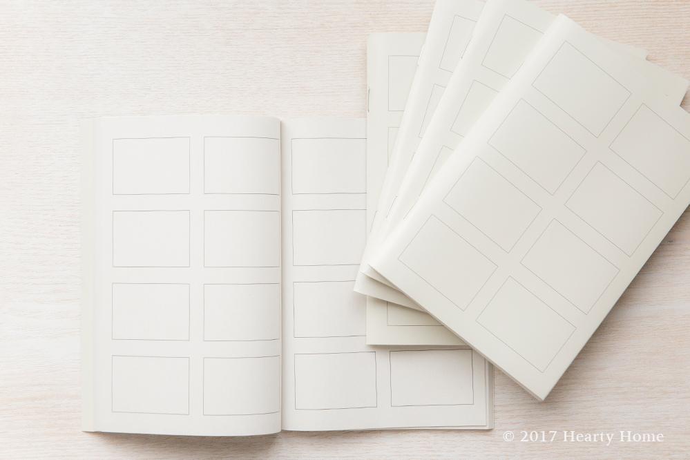 無印 4コマノート 紙一枚でまとめる 思考の整理