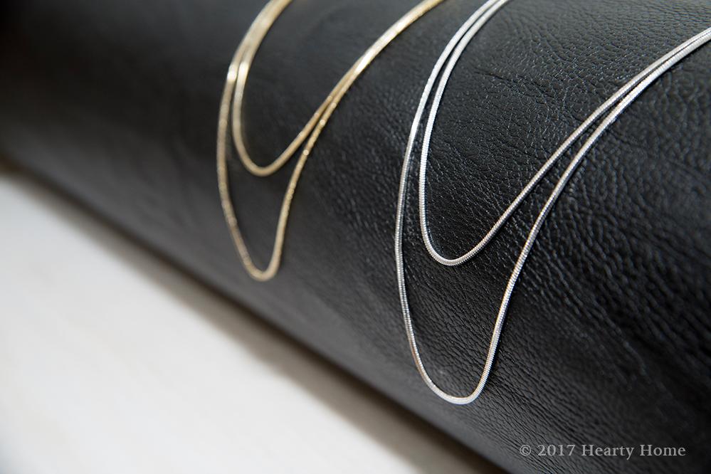 ロングネックレス イロチ買い ゴールド シルバー 骨格ナチュラル パーソナルカラー