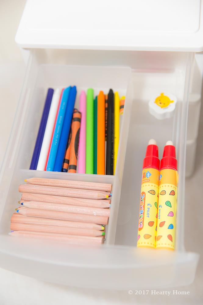 ニトリ 3段 収納 ケース 引き出し収納 おもちゃ 文房具