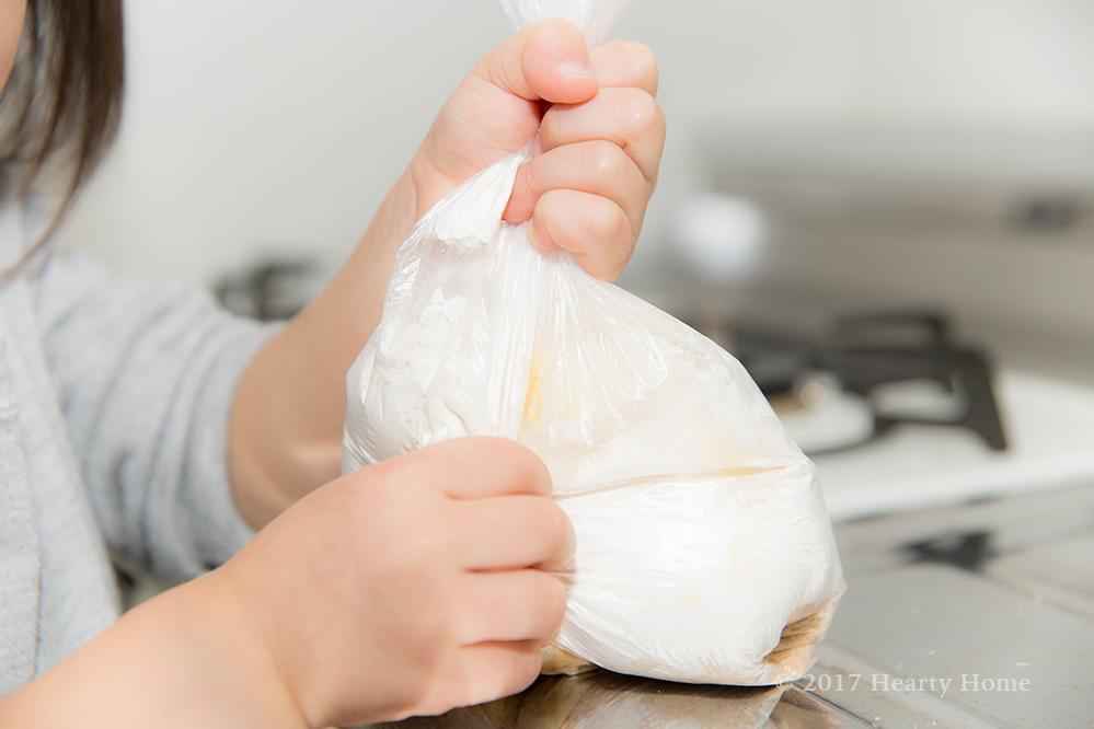 3歳 子供 お手伝い 手作り レシピ さばこクッキー 作り方