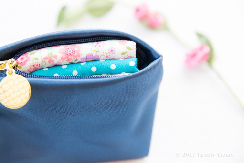 布ナプキン 持ち運び 携帯用 ポーチ 方法 収納