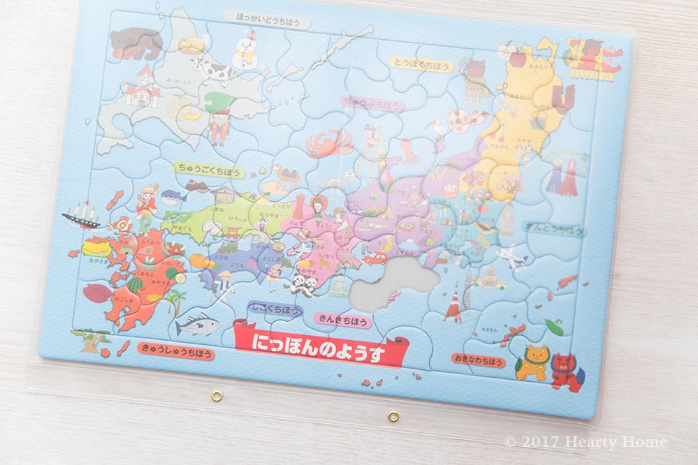 大きな パズル 収納 3歳 日本地図