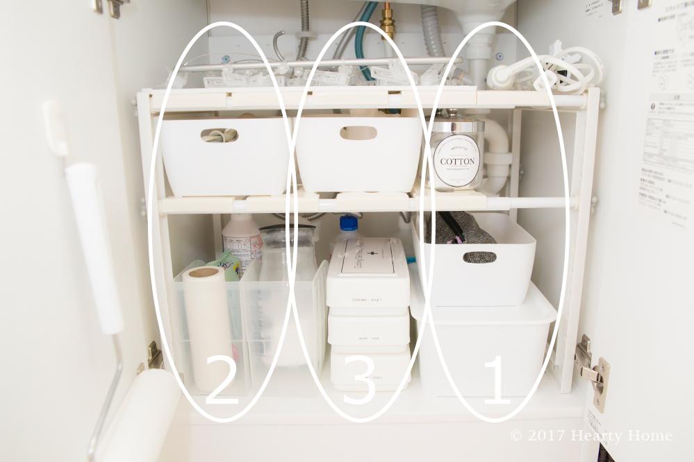 アクション数 使用頻度 洗面台下 収納